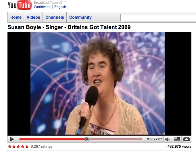 Susan Boyle-singer-youtube