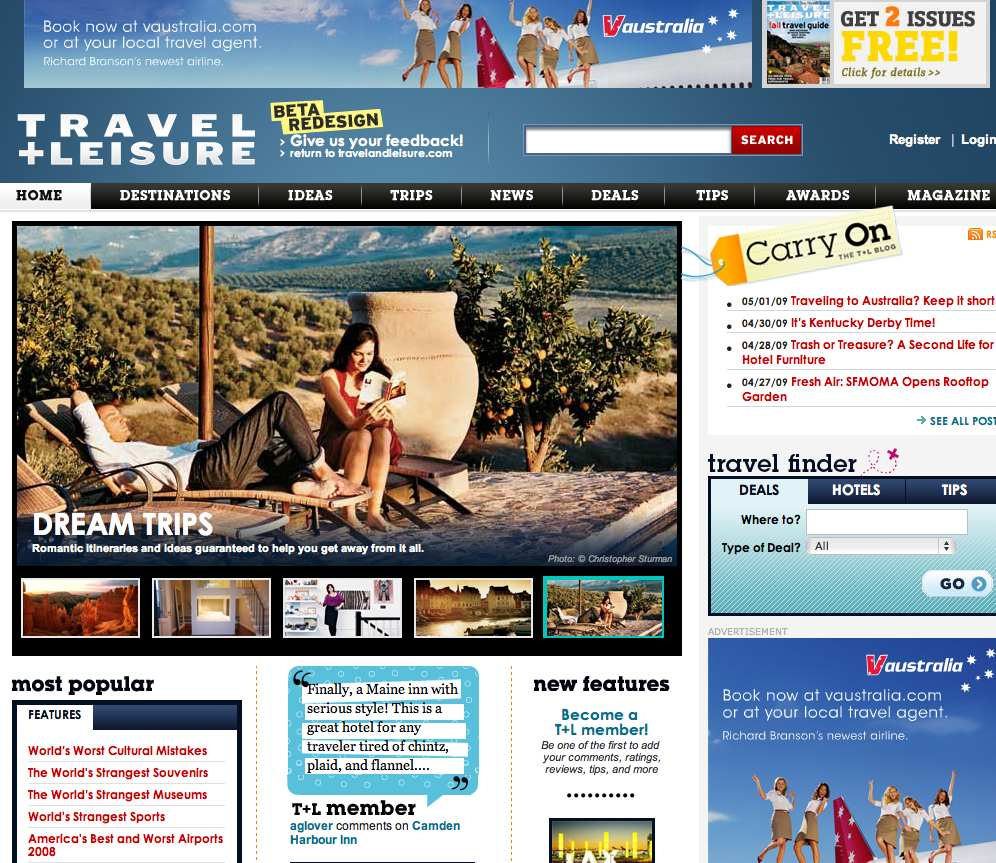 Traveland leisure web