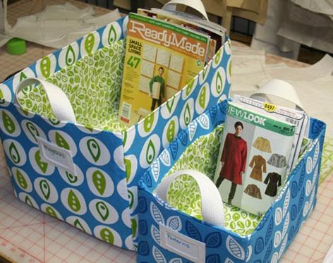 Momathon Blog: DIY: Sew fabric storage baskets