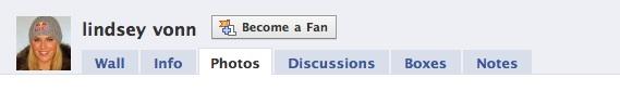 Lindsey vonn facebook