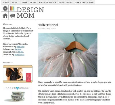 Design mom blog--tutu