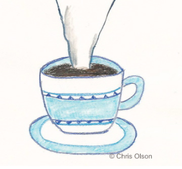 Coffee cup doodle by Chris Olson