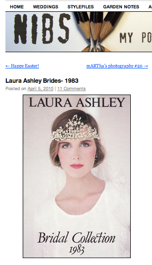 Wedding dresses by Laura Ashley