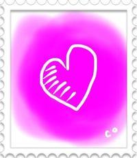 Violet heart doodle