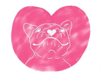 dog valentine doodle by Chris Olson
