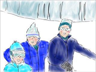 Ski doodle by Chris Olson