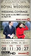 Royal wedding widget from BBC