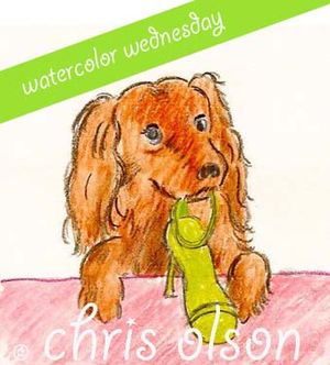 Watercolor wednesday by Chris Olson