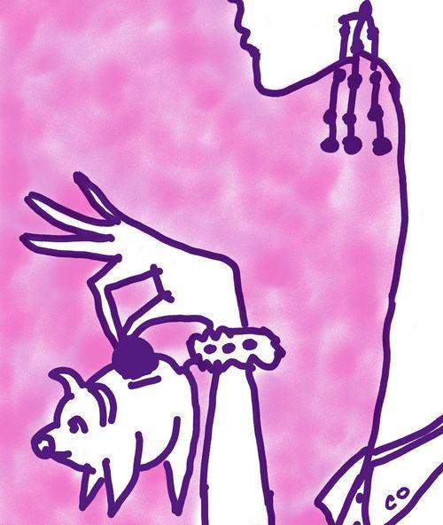 piggy bank art by chris olson