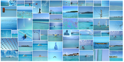 Tropical blue collage