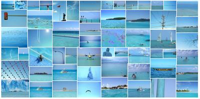 momathon blog diy ice blue collage