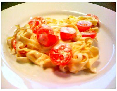 Tomato and Lemon Fettucine Recipe food photo
