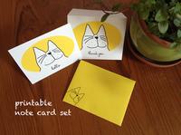 Printable note card