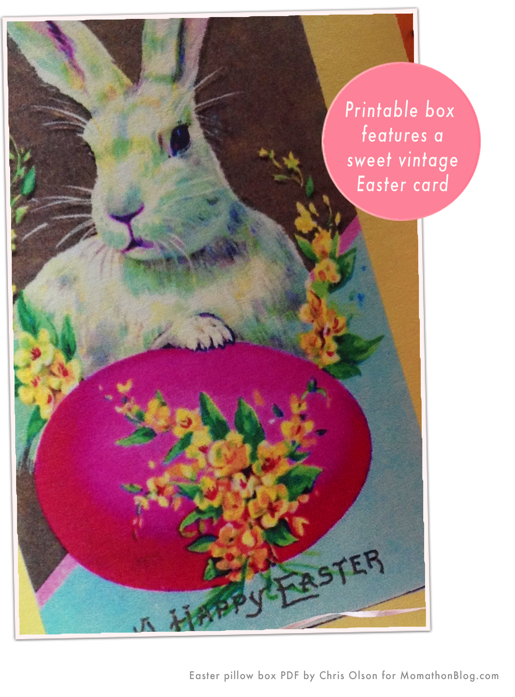 Momathon blog free printable easter bunny gift box you can also embellish the box with glitter after i printed copies of the boxes at home i added a hint of white glitter to the bunny ears negle Gallery