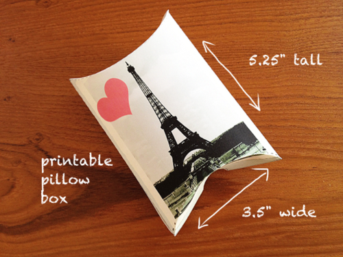 Eiffel Tower Gift box printable