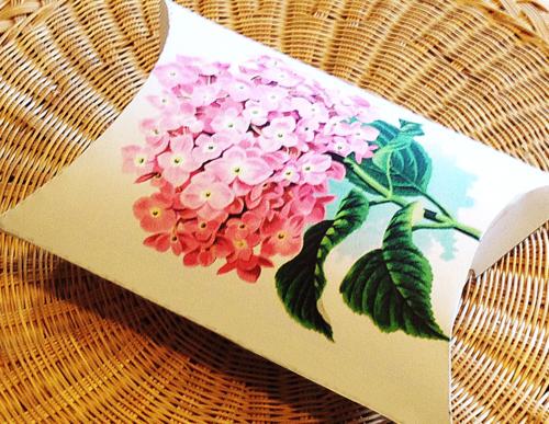 Pink Hydrangea Flower gift box--printab;le