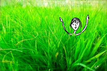 Greener grass illustration