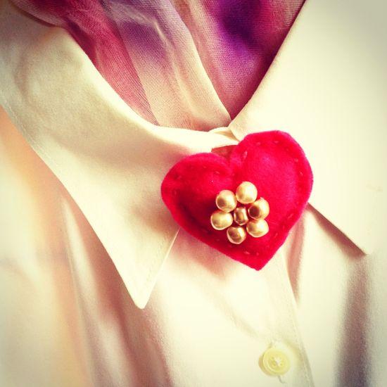 Red heart pin pin by Chris Olson at Momathon