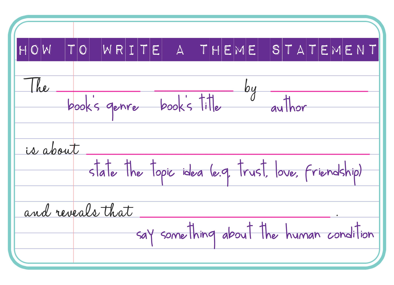 Momathon Blog: Homework Help: How to Write a Theme Statement in