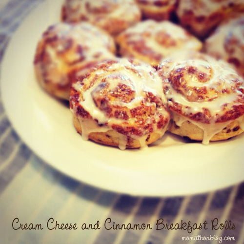 Cream Cheese and Cinnamon Breakfast Rolls