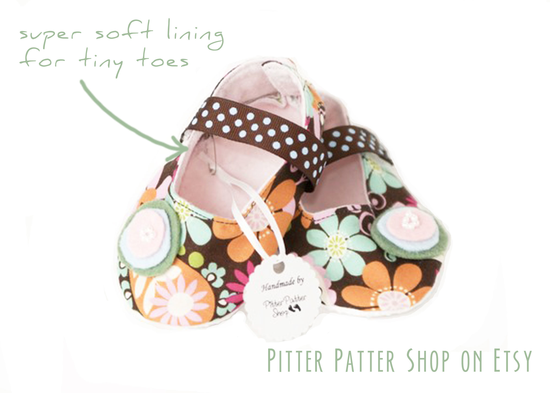 Handmade Baby Bootie by Pitter Patter on Etsy