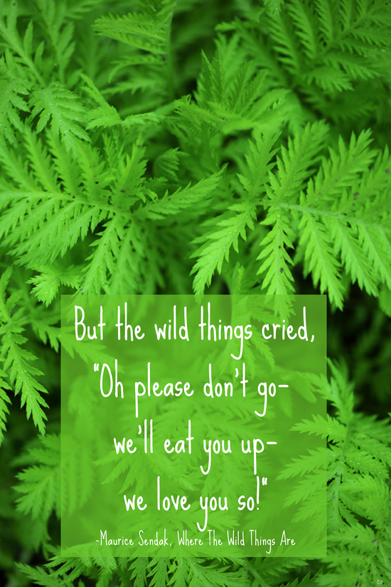 Maurice Sendak quote: Where the Wild Things Are