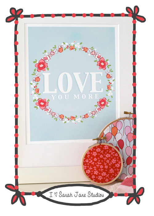 Etsy: Love You More nursery art