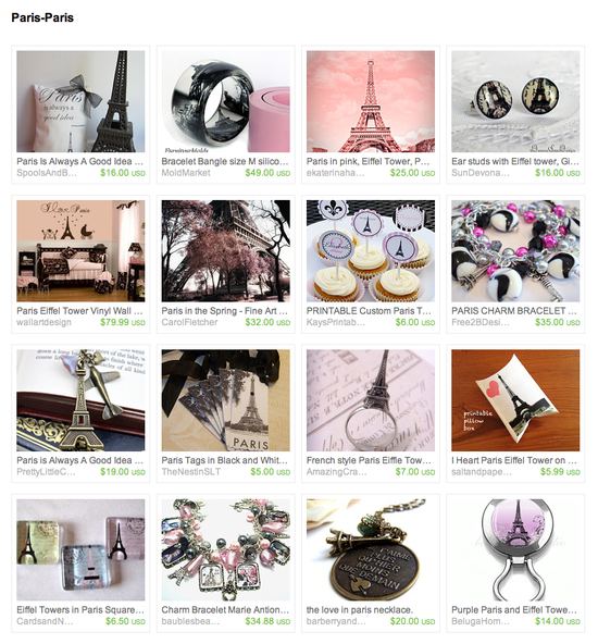Paris-Paris treasury on ETSY