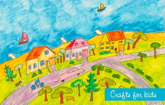 Seaside watercolor by Chris Olson