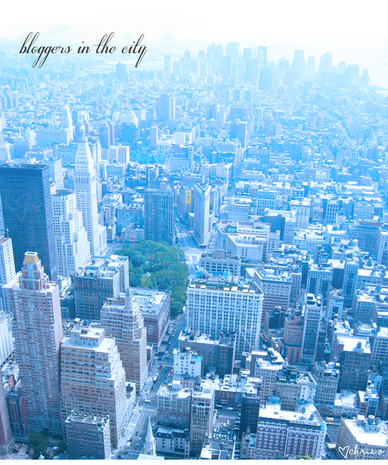 bloggers in the city, photo illustration