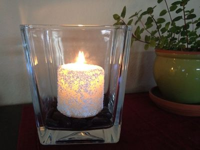 Epsom salt Snow candle