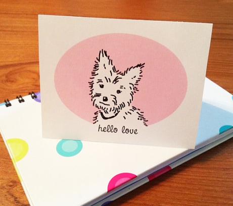 Yorkie Valentine card printable