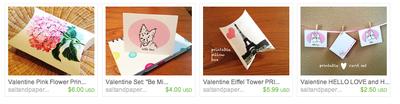 Valentine printables-etsy