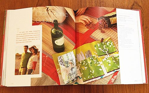 Cloth picnic caddy project in the book Weekend Handmade by Kelly Wilkinson