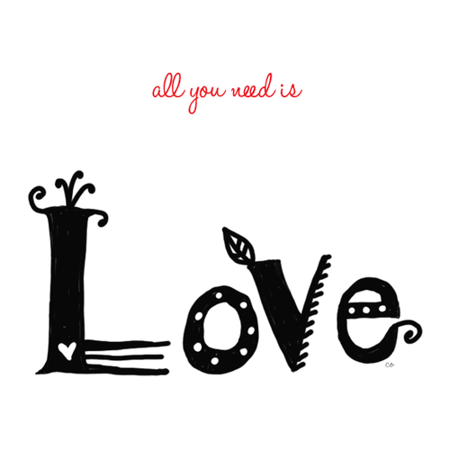 Valentine Doodle: All you need is love