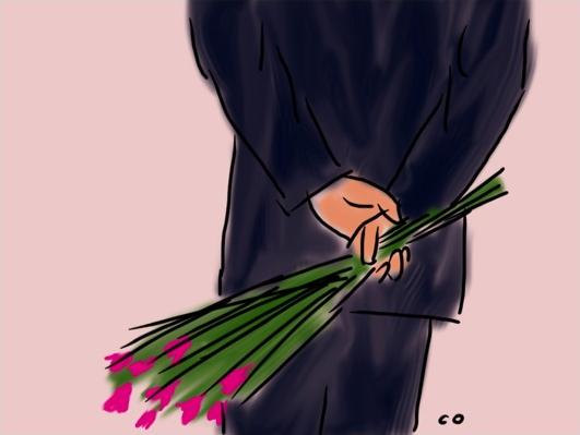 Valentine art by Chris Olson