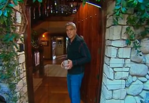 George Clooney in Doorway