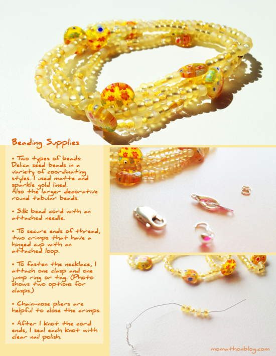 DIY: Sunshine Bead Necklace