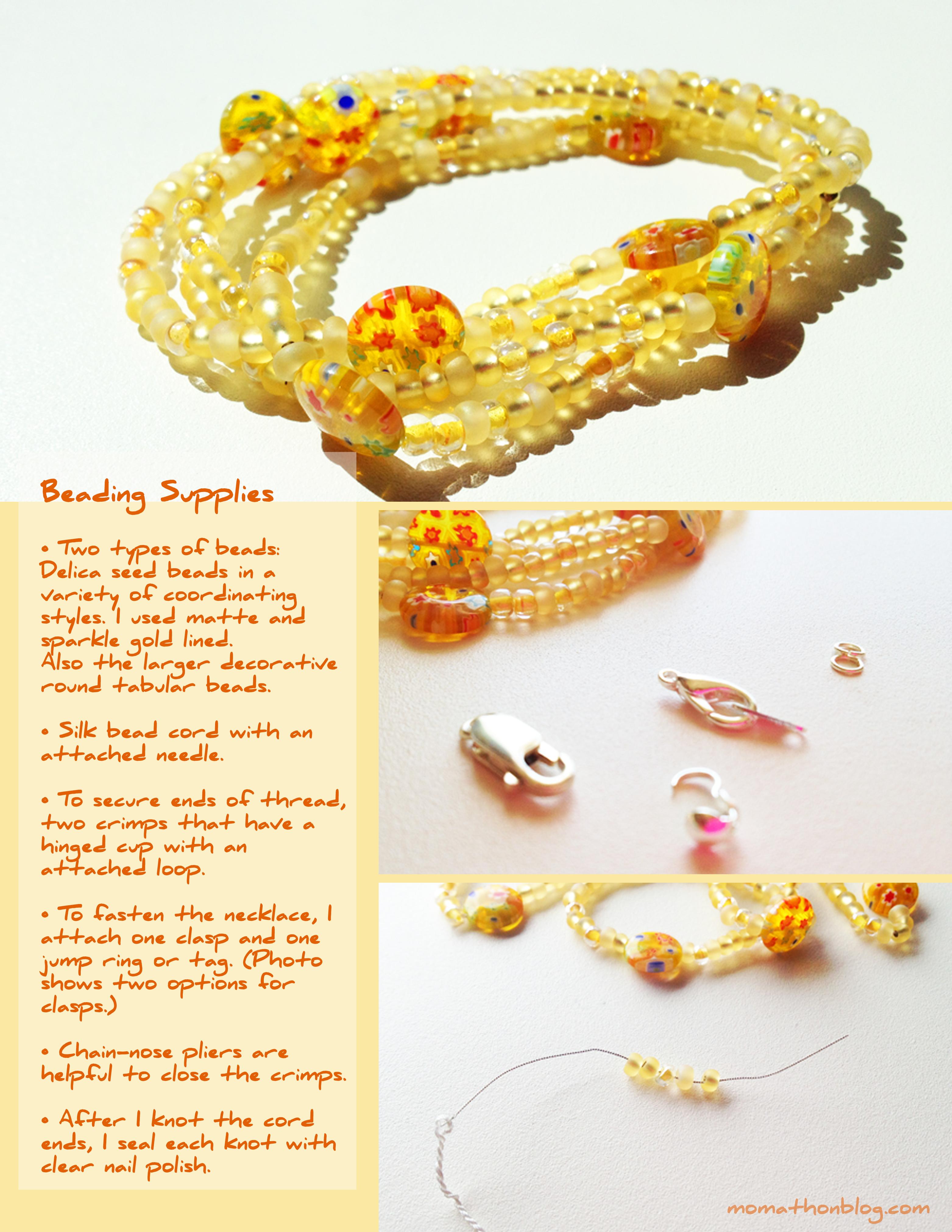 Momathon Blog: DIY: Sunshine Bead Necklace