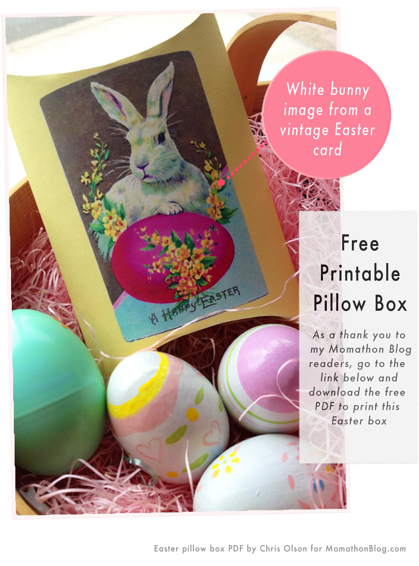 Momathon blog free printable easter bunny gift box freeprintablepillowbox negle Image collections