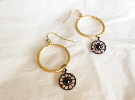 Dangle Gold Earrings from Rick Rack Boutique in Minneapolis