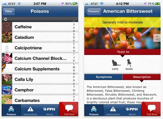 Pet poison help app