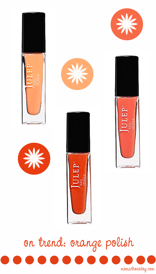 Beauty trend: orange nail polish