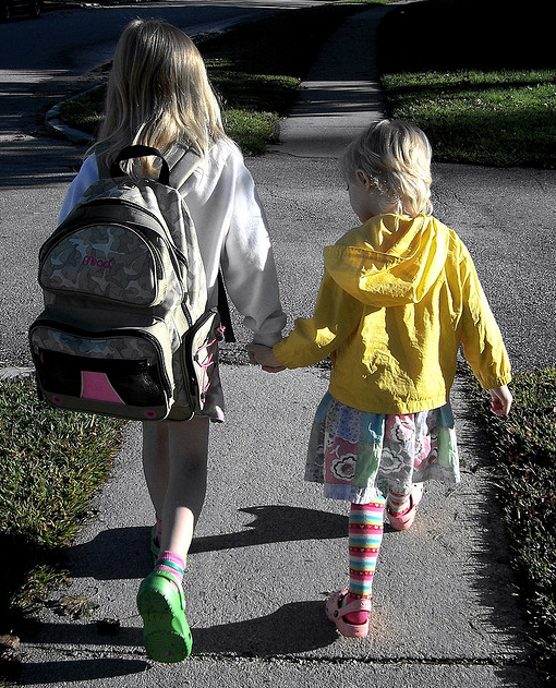 Walking to school, photo by D Sharon Pruitt