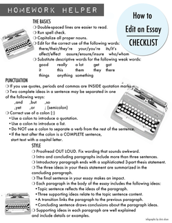 How to edit an essay, a checklist*