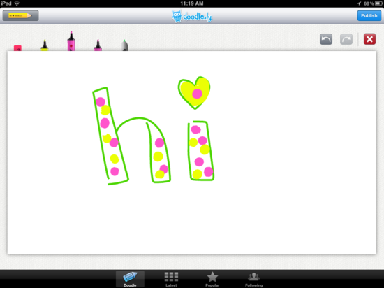 my first doodle.ly doodle
