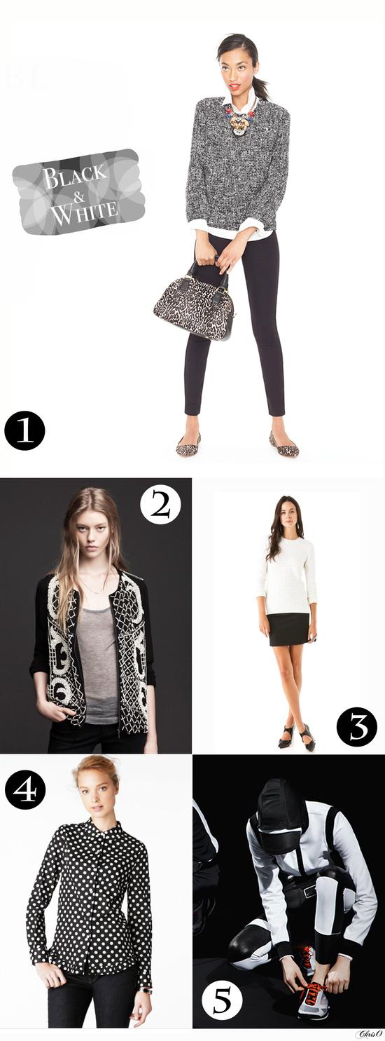 Fall fashion essentials: black and white*