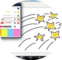 Doodle app, circle