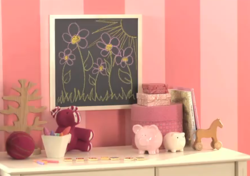Magnetic chalkboard DIY, Benjamin Moore Paint & Pottery Barn Kids