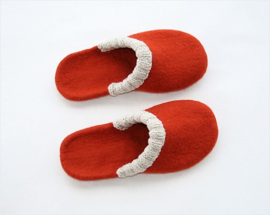 red_felted_wool_slippers